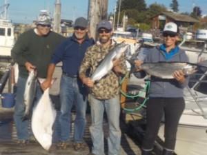 salmon halibut trip