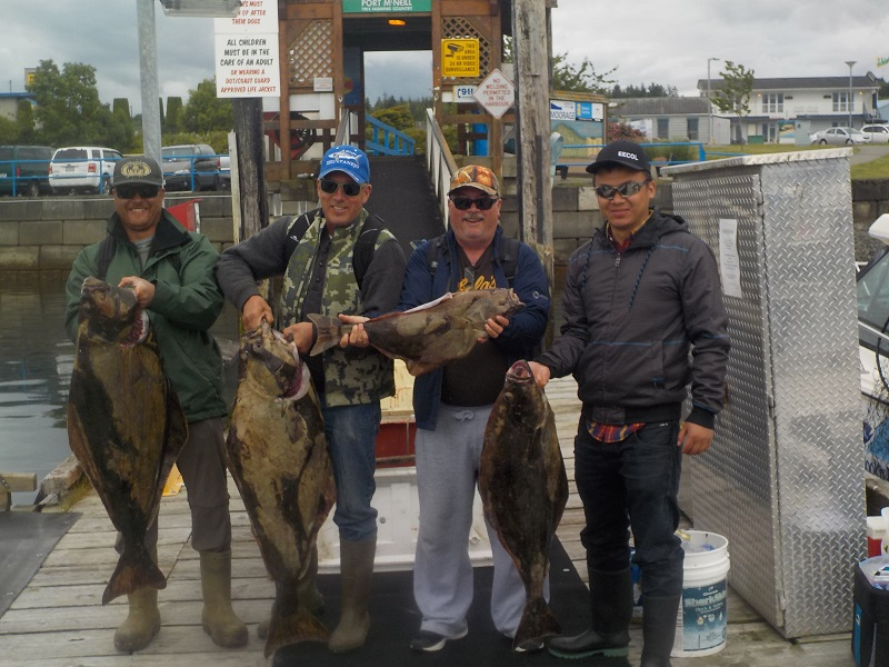 Halibut and salmon fishing port mcneill and port hardy bc for Halibut fishing seattle