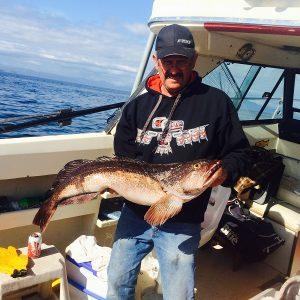 Lingcod fishing Port McNeill