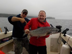 Castle Point Salmon Fishing With Hook`n Them Up Fishing Charters