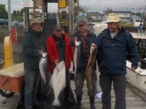 coho and halibut fishing
